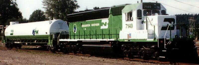 LNG locomotive conversion