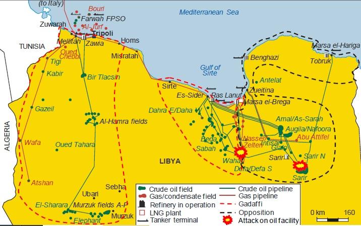 Libya oil field battle lines