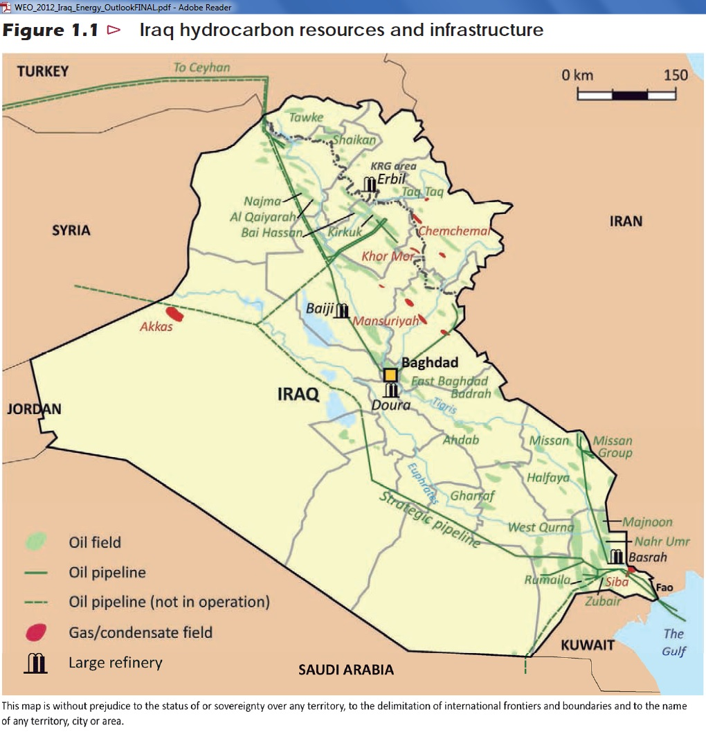iraq hydrocarbon resources and infrastructure 2013